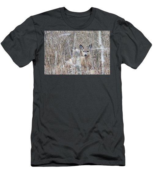 Hunkered Down Men's T-Shirt (Slim Fit) by Brook Burling