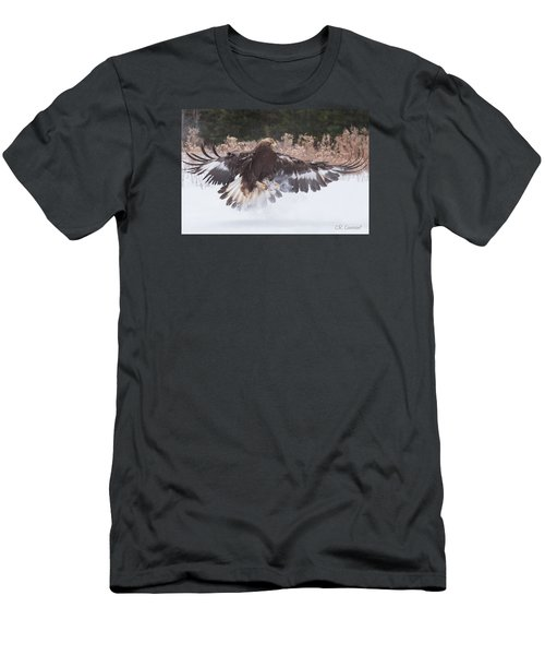 Hunting In The Snow Men's T-Shirt (Slim Fit) by CR Courson