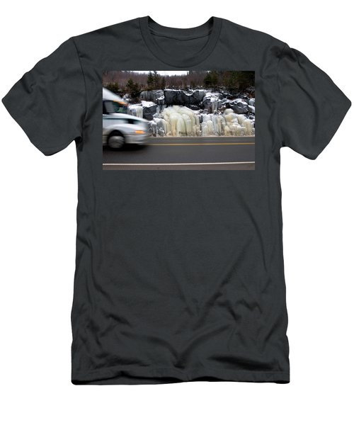 Men's T-Shirt (Athletic Fit) featuring the photograph Hwy Ice   by Doug Gibbons