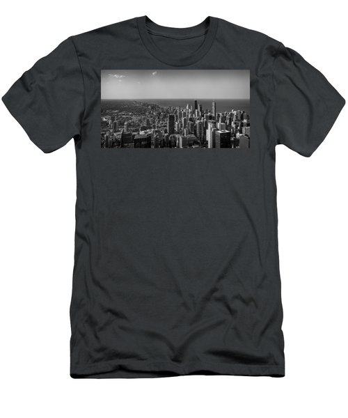 Men's T-Shirt (Athletic Fit) featuring the photograph I Can See For Miles And Miles by Howard Salmon