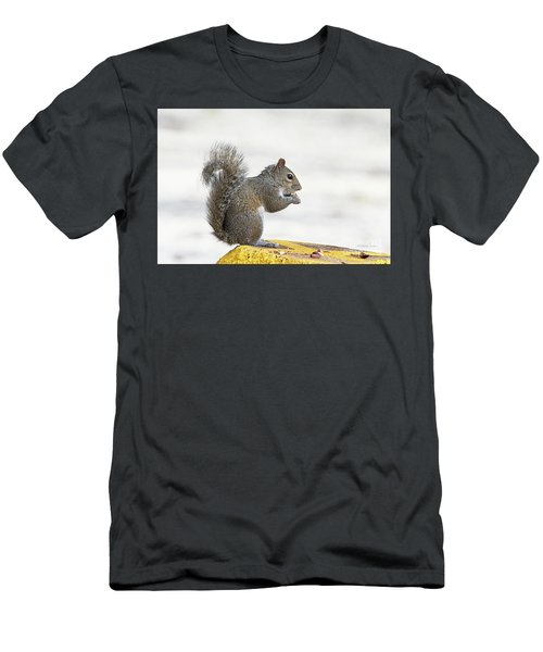Men's T-Shirt (Slim Fit) featuring the photograph I Have My Nuts by Deborah Benoit