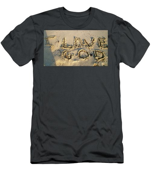 I Love God Men's T-Shirt (Athletic Fit)