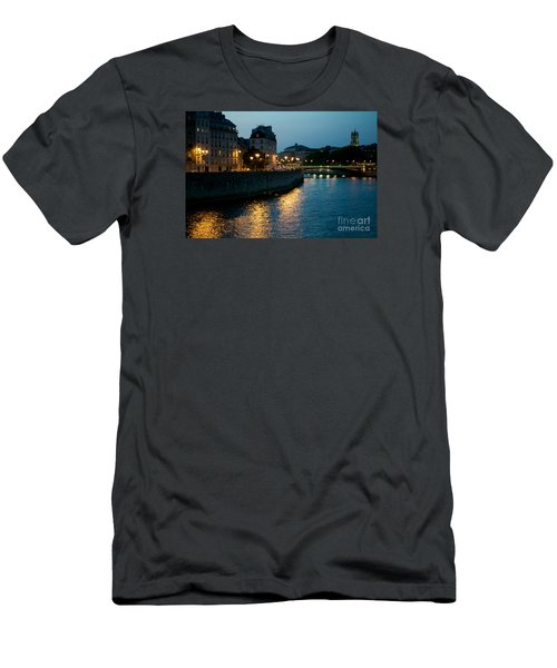 Men's T-Shirt (Slim Fit) featuring the photograph I Love Paris by Sandy Molinaro