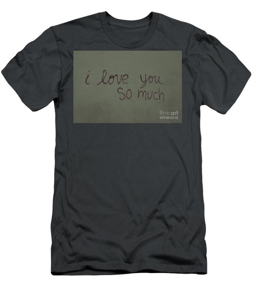 I Love You Men's T-Shirt (Slim Fit) by Bob Hislop