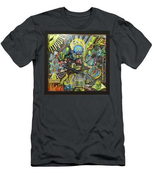 Men's T-Shirt (Athletic Fit) featuring the painting I M H O O O T E P by Rufus J Jhonson