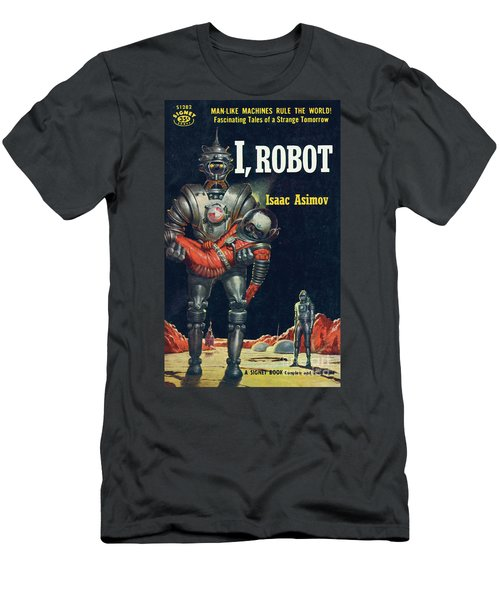 Men's T-Shirt (Slim Fit) featuring the painting I, Robot by Robert Schulz
