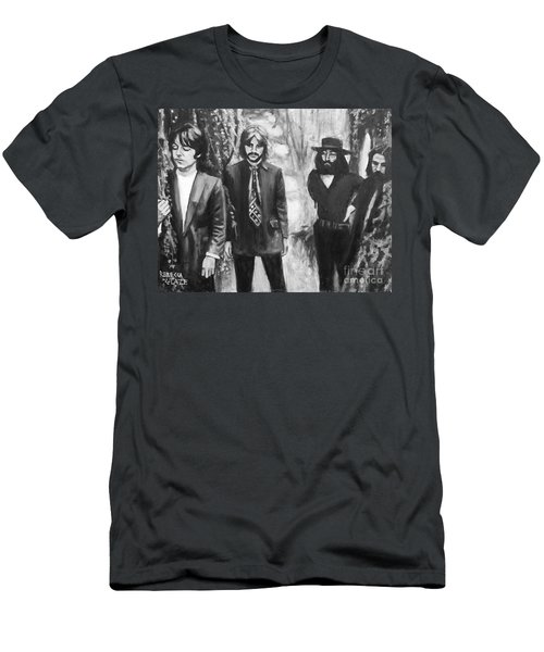 And In The End Men's T-Shirt (Slim Fit) by Rebecca Glaze