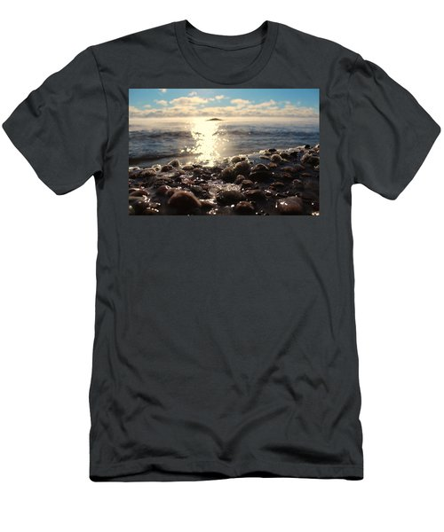 Ice-covered Rocks Men's T-Shirt (Athletic Fit)