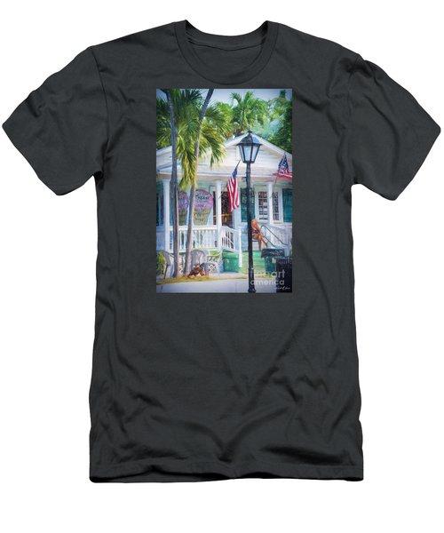 Ice Cream In Key West Men's T-Shirt (Slim Fit) by Linda Olsen