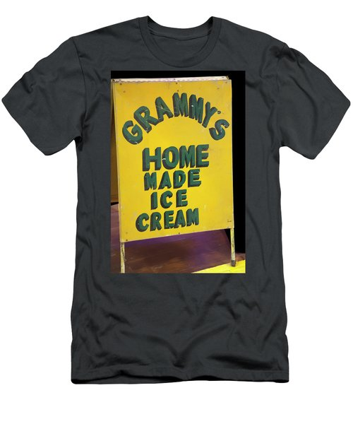 Men's T-Shirt (Athletic Fit) featuring the photograph Ice Cream Sign by Chris Flees