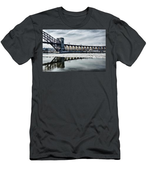 Ice Flows Under The Hellgate Men's T-Shirt (Athletic Fit)