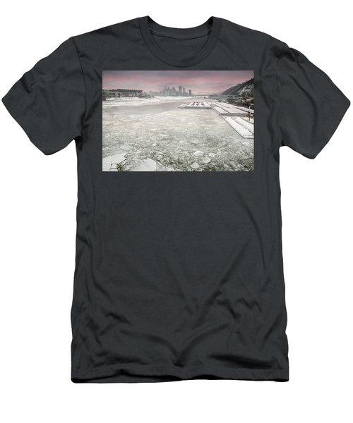 Frozen Allegheny River  Men's T-Shirt (Athletic Fit)