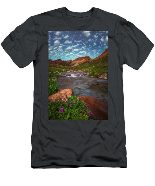 Men's T-Shirt (Athletic Fit) featuring the photograph Ice Lake Nights by Darren White