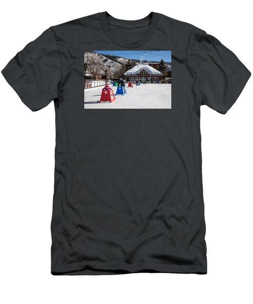 Ice Rink In Downtown Aspen Men's T-Shirt (Slim Fit) by Carol M Highsmith