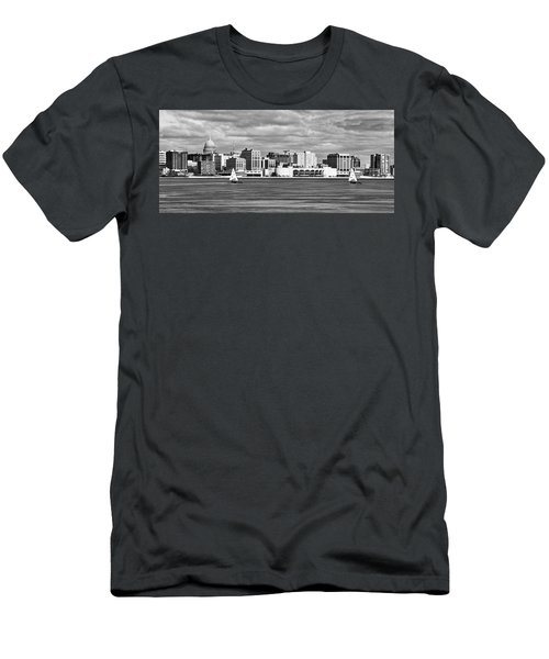 Ice Sailing Bw - Madison - Wisconsin Men's T-Shirt (Athletic Fit)