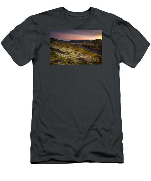 Men's T-Shirt (Slim Fit) featuring the photograph Iceland Sunset by Chris McKenna