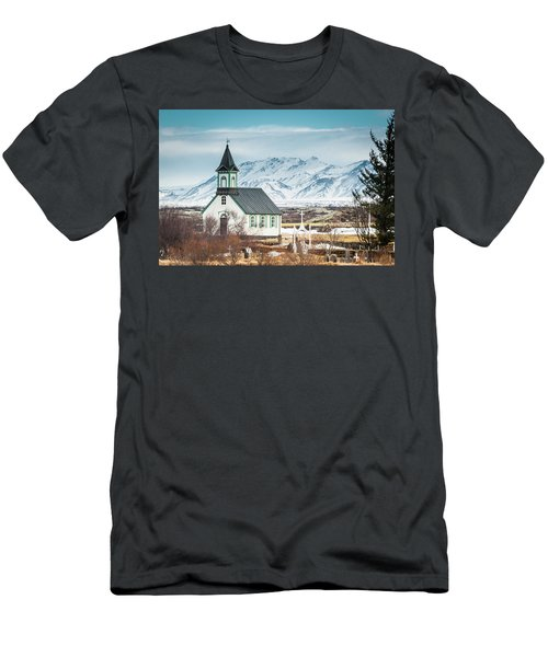 Icelandic Church, Thingvellir Men's T-Shirt (Athletic Fit)