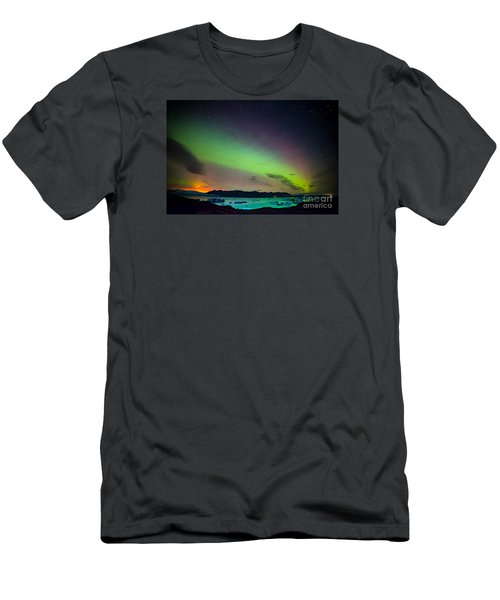 Icelandic Lights  Men's T-Shirt (Slim Fit) by Mariusz Czajkowski