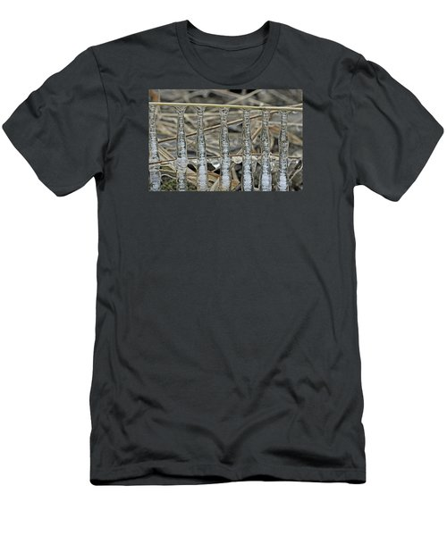 Men's T-Shirt (Slim Fit) featuring the photograph Icicles On A Stick by Glenn Gordon