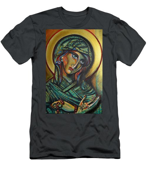 Men's T-Shirt (Slim Fit) featuring the painting Icona by Sandro Ramani