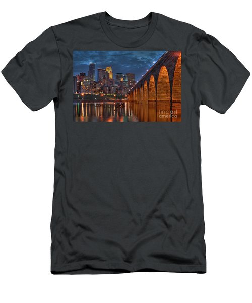 Iconic Minneapolis Stone Arch Bridge Men's T-Shirt (Athletic Fit)