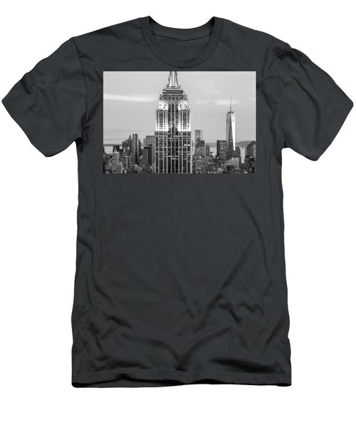 Iconic Skyscrapers Men's T-Shirt (Athletic Fit)