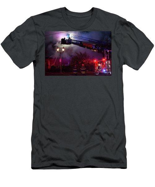 Ict - Burning Men's T-Shirt (Athletic Fit)