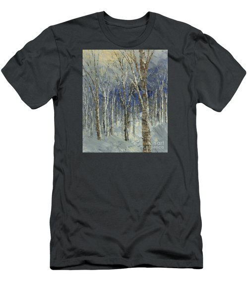 Men's T-Shirt (Slim Fit) featuring the painting Icy Bells by Tatiana Iliina