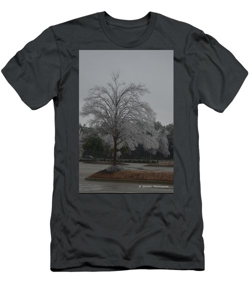 Icy Tree Men's T-Shirt (Slim Fit) by Gordon Mooneyhan