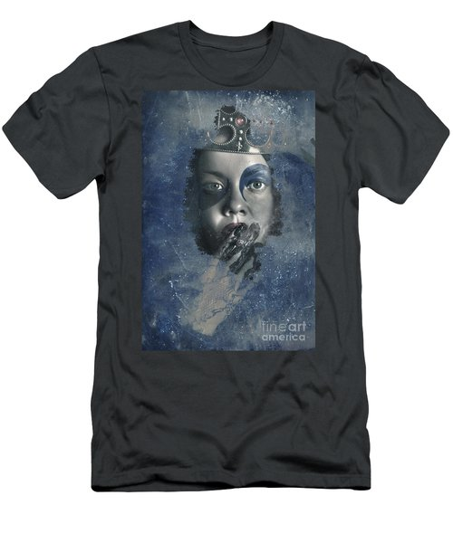 Icy Window Reflection. Wicked Queen Of Winter Men's T-Shirt (Athletic Fit)