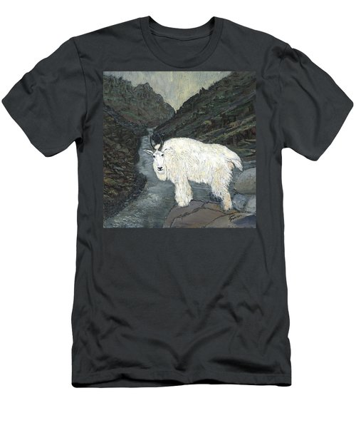 Idaho Mountain Goat Men's T-Shirt (Athletic Fit)