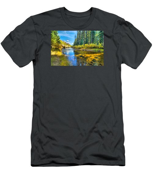 Idaho Stream 2 Men's T-Shirt (Athletic Fit)