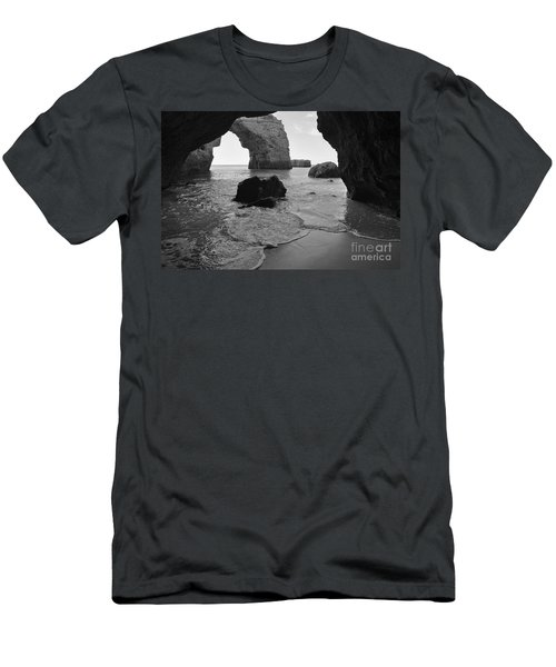 Idyllic Cave In Monochrome Men's T-Shirt (Athletic Fit)
