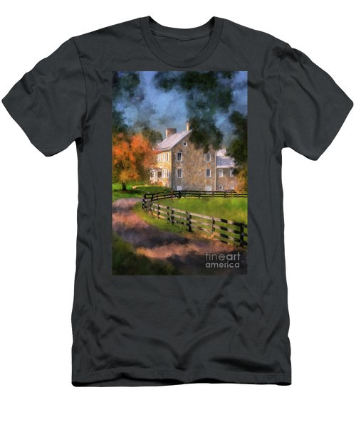 Men's T-Shirt (Athletic Fit) featuring the digital art If These Walls Could Talk  by Lois Bryan