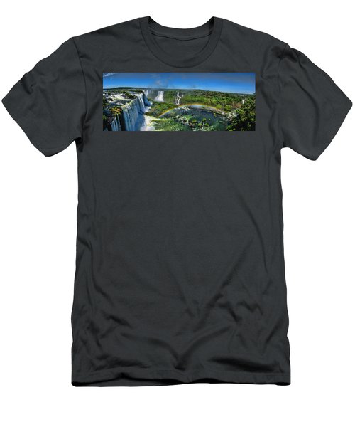 Iguazu Panorama Men's T-Shirt (Slim Fit) by David Gleeson