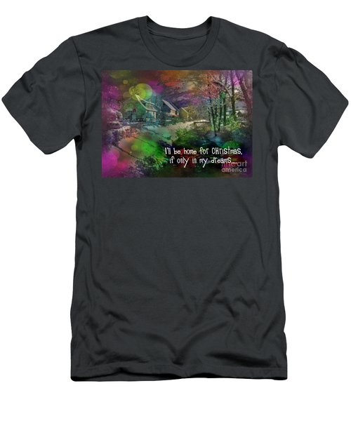 Men's T-Shirt (Athletic Fit) featuring the digital art I'll Be Home Card 2016 by Kathryn Strick