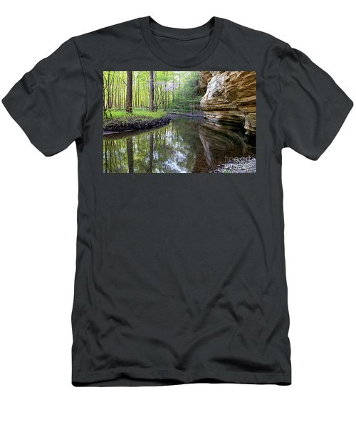 Illinois Canyon In Spring Starved Rock State Park Men's T-Shirt (Athletic Fit)