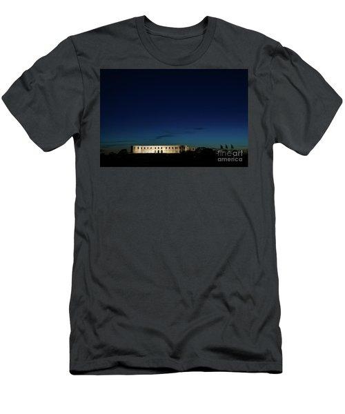 Men's T-Shirt (Athletic Fit) featuring the photograph Illuminated Castle Ruin by Kennerth and Birgitta Kullman