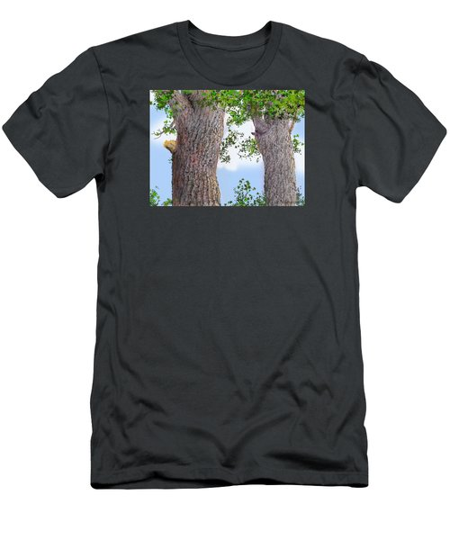 Men's T-Shirt (Slim Fit) featuring the drawing Imaginary Trees by Jim Hubbard