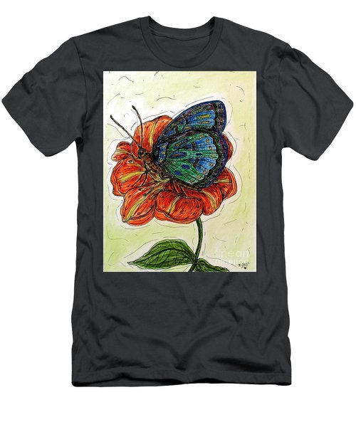 Imagine Butterflies A Men's T-Shirt (Athletic Fit)