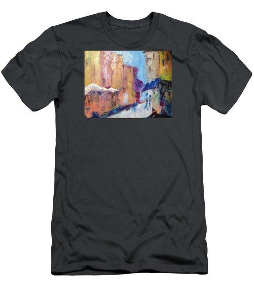 Impressions Of Monte Martre, Paris Men's T-Shirt (Slim Fit) by Roxy Rich