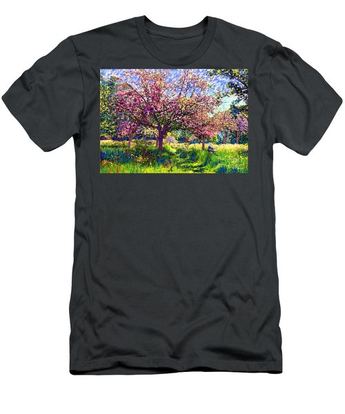 In Love With Spring, Blossom Trees Men's T-Shirt (Slim Fit) by Jane Small