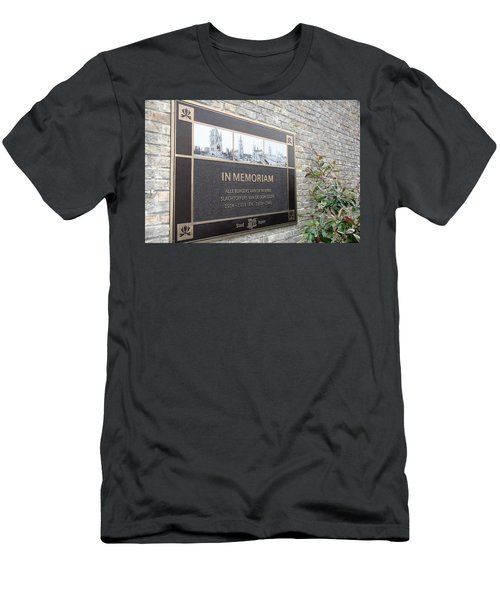 Men's T-Shirt (Slim Fit) featuring the photograph In Memoriam - Ypres by Travel Pics