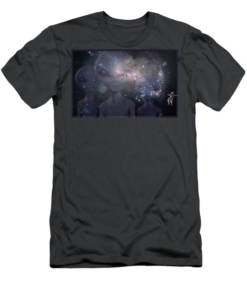 In Space Men's T-Shirt (Slim Fit) by Thomas M Pikolin