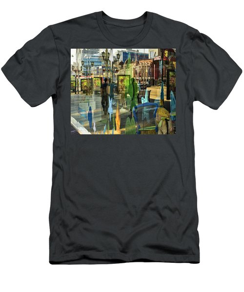 Men's T-Shirt (Slim Fit) featuring the photograph In The City by Vladimir Kholostykh