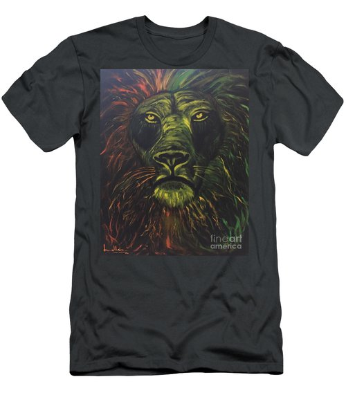 Men's T-Shirt (Slim Fit) featuring the painting In The Dark by Brindha Naveen