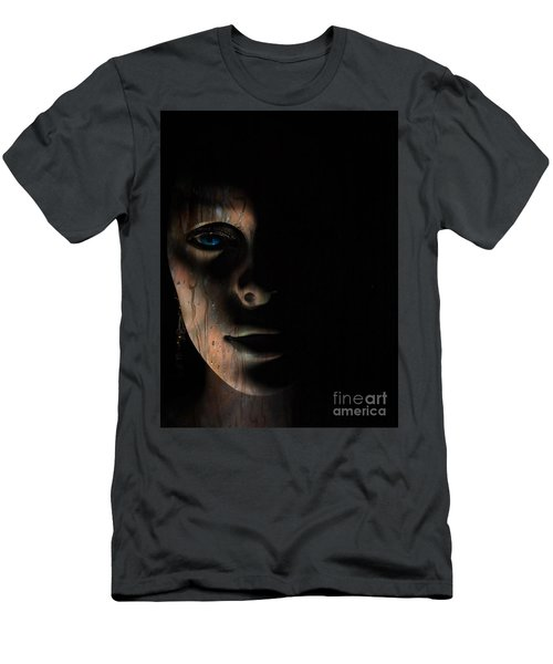 Men's T-Shirt (Slim Fit) featuring the photograph In The Dark by Trena Mara