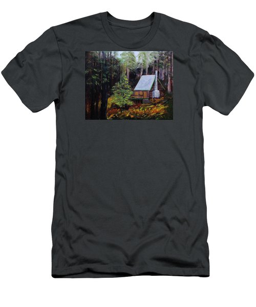 In The Deep Woods Men's T-Shirt (Slim Fit) by Mike Caitham