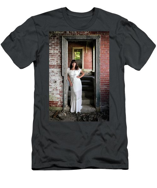 Men's T-Shirt (Athletic Fit) featuring the photograph In The Doorway by Rick Berk