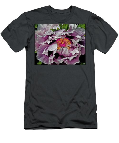 Men's T-Shirt (Athletic Fit) featuring the photograph In The Eye Of The Peony by Chris Lord